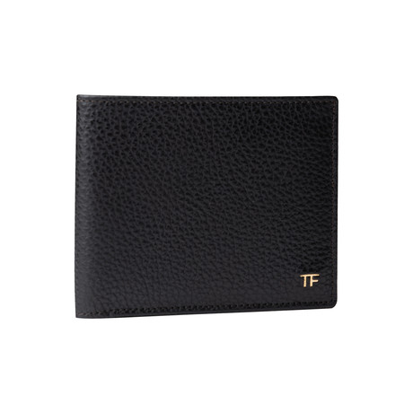 Men's Heavy Grained Leather Wallet // Black