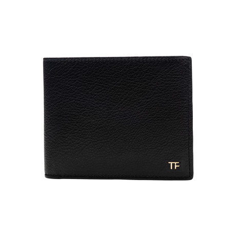 Men's Light Grained Leather Wallet // Black