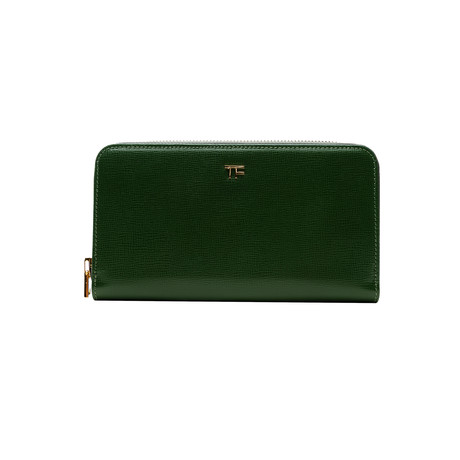 Women's Leather Medium Wallet // Green