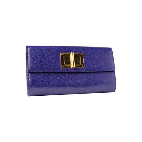 Women's Leather Wallet Medium // Purple
