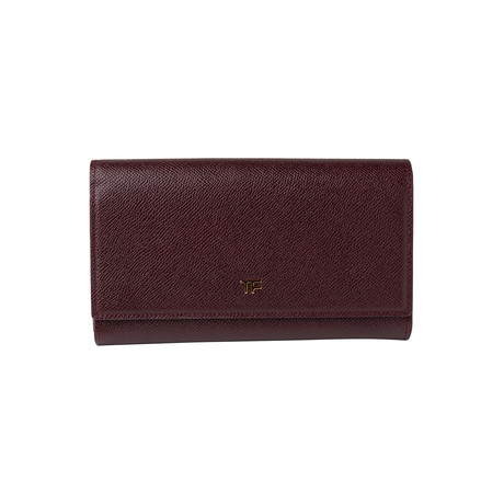 Women's Leather Wallet // Wine Red