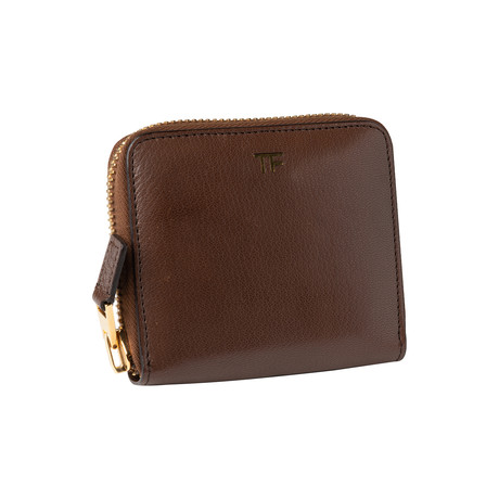 Women's Small Brown Leather Wallet // Brown