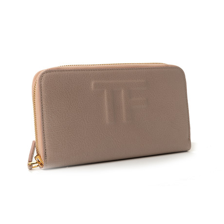 Women's Leather Wallet // Pink