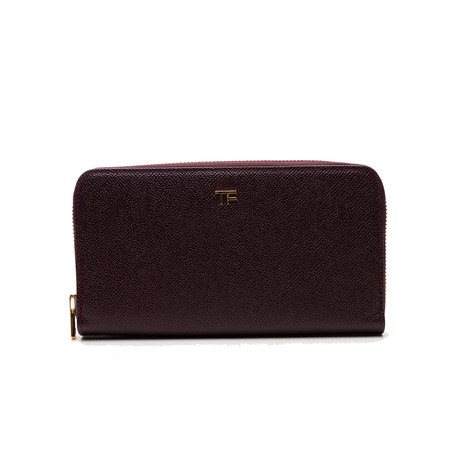 Women's Leather Wallet // Maroon