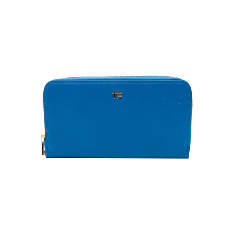 Women's Leather Wallet V1 // Blue