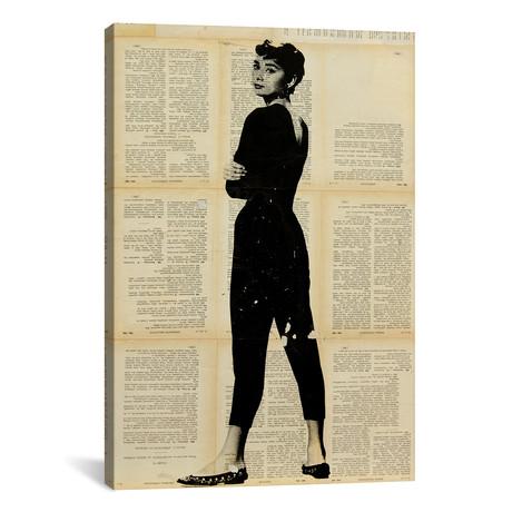 "Audrey Hepburn // Dane Shue (12""W x 18""H x 0.75""D)"