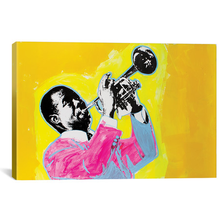 """Louis Armstrong (18""""W x 12""""H x 0.75""""D)"""