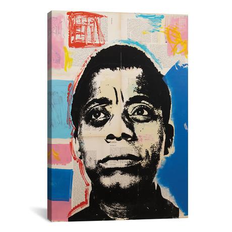 """James Baldwin (12""""W x 18""""H x 0.75""""D)"""