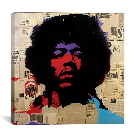 """Jimi Hendrix (12""""W x 12""""H x 0.75""""D)"""