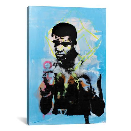 """Muhammad Ali - Blue (12""""W x 18""""H x 0.75""""D)"""