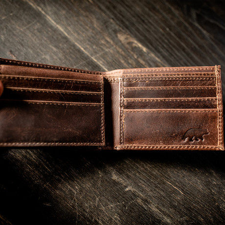 Bi-Fold Wallet // Dark Walnut