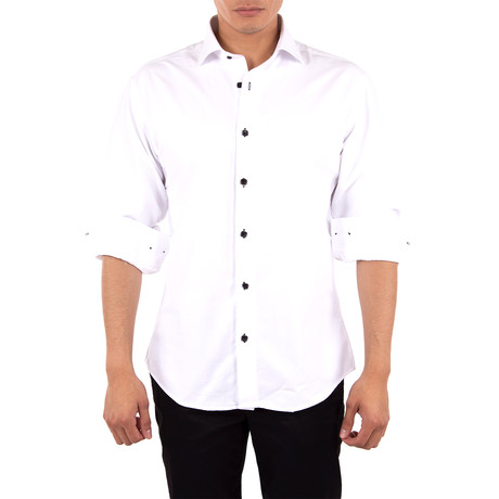 Coolidge Long-Sleeve Button-Up Shirt // White (XS)
