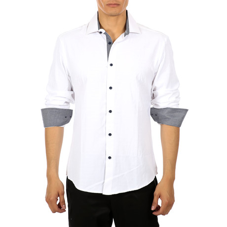 Marcel Long Sleeve Button Up Shirt // White (XS)