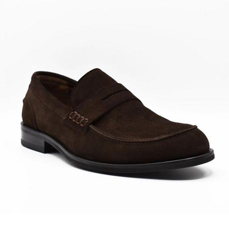 Kyle Suede Dress Shoes // Dark Brown (Euro: 39)