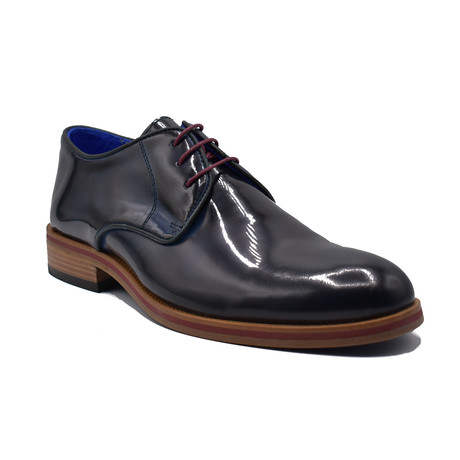 Shawn Patent Leather Shoes // Dark Blue (Euro: 39)