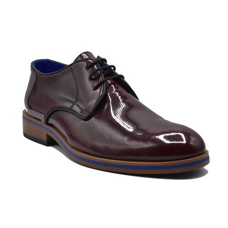 Scott Patent Leather Shoes // Burgundy (Euro: 39)