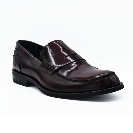 Blake Shiny Leather Dress Shoes // Burgundy (Euro: 39)