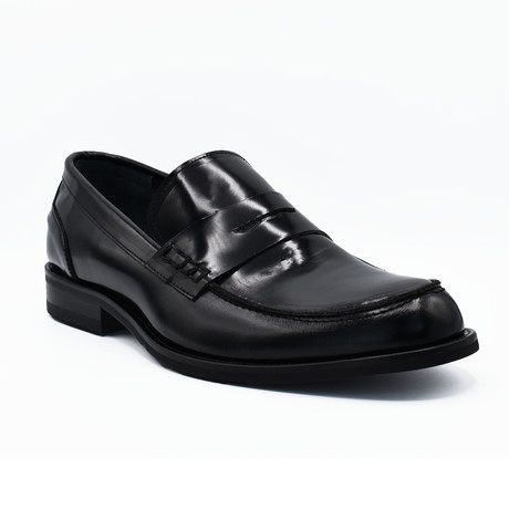Adam Shiny Leather Dress Shoes // Black (Euro: 39)