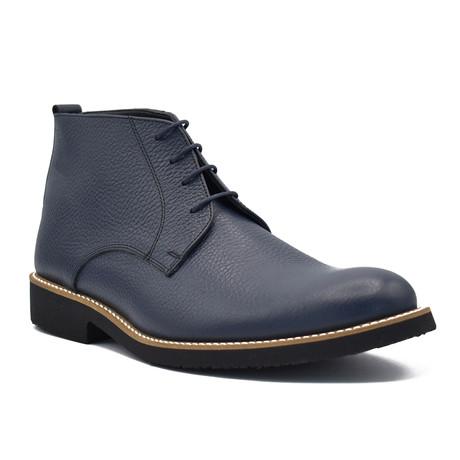 York Leather Boots // Dark Blue (Euro: 39)