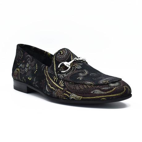 Arkin Dress Shoes // Black Burgundy Design (Euro: 39)