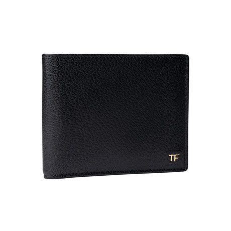 Men's Medium Grained Leather Wallet // Black