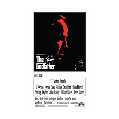 Al Pacino // Autographed The Godfather // Movie Poster