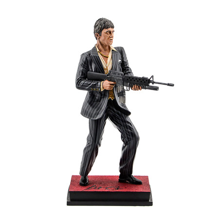 Al Pacino // Autographed Scarface Tony Montana My Little Friend // Scale Statue