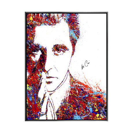 Al Pacino // Autographed Michael Ferrari The Godfather Michael Corleone // Framed Canvas Giclée