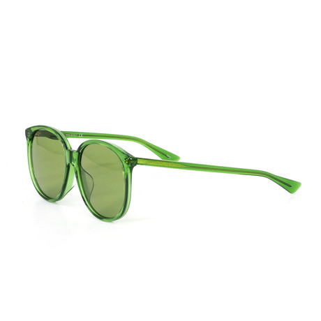 Women's Round Sunglasses // Green