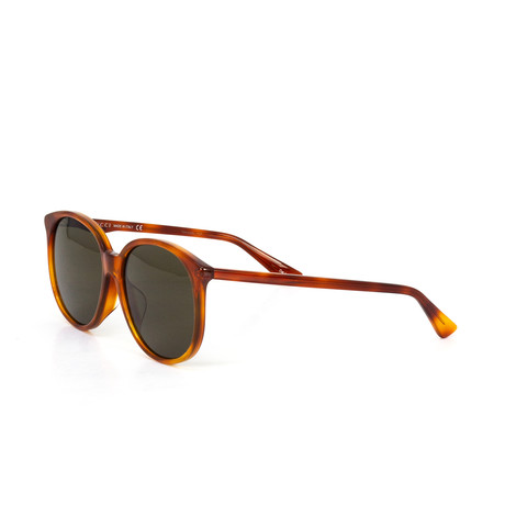 Women's Round Sunglasses // Red + Brown
