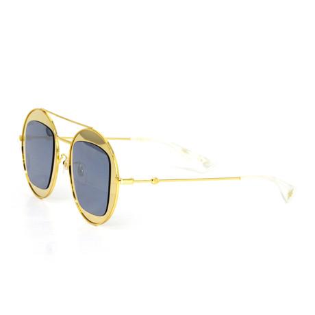Women's Round Sunglasses // Gold