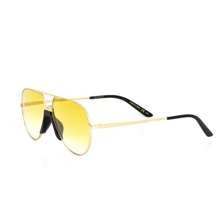 Women's Aviator Shape Sunglasses I // Gold