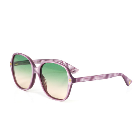 Women's Square Sunglasses // Pink + Green