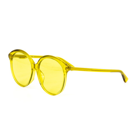 Women's Round Sunglasses // Yellow