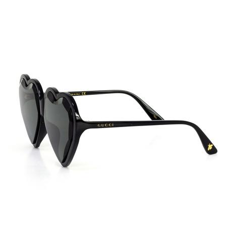 Women's Heart Shape Sunglasses // Black