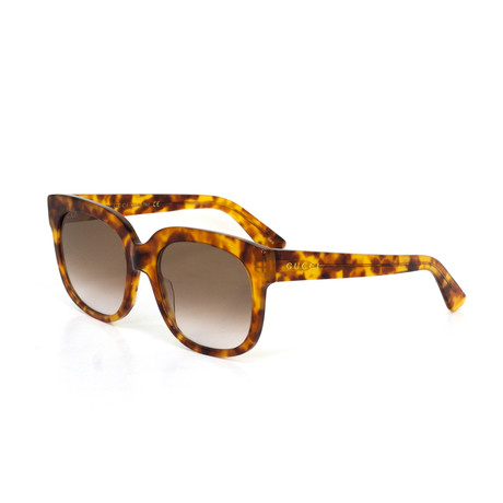 Women's Square Shape Sunglasses // Brown