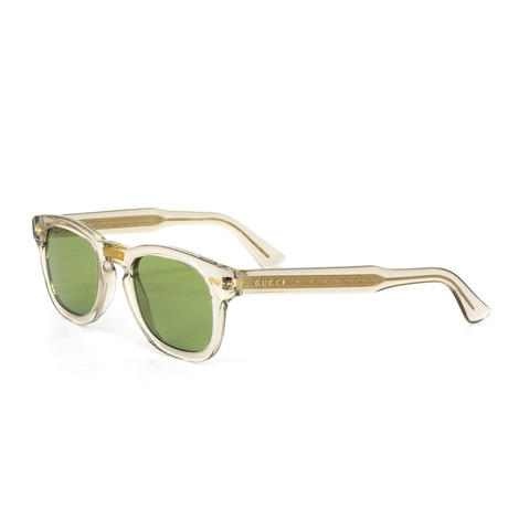 Unisex Square Sunglasses // Green + Clear