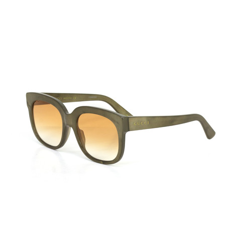 Women's Square Sunglasses // Beige