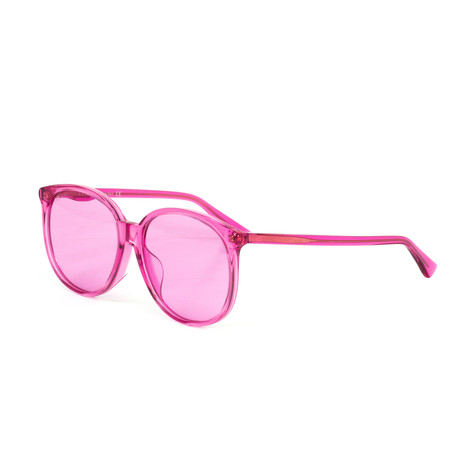Women's Round Sunglasses // Fuchsia