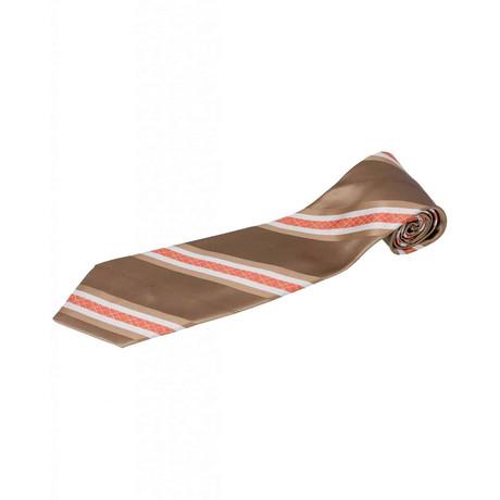 Zilli // 100% Silk Striped Tie V1 // Brown