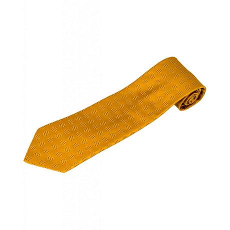 Zilli // 100% Silk Dotted Tie // Gold