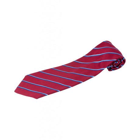 Zilli // 100% Silk Tie // Red + Blue