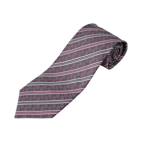 Zilli // 100% Silk Striped Tie // Pink