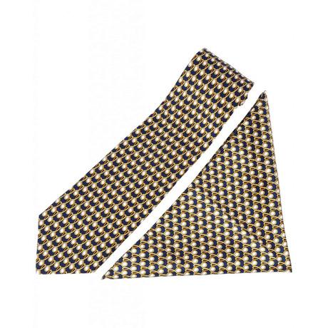 Zilli // 100% Silk Tie + Pocket Square Set // Beige