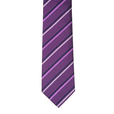 Borelli Napoli // Striped Tie // Purple