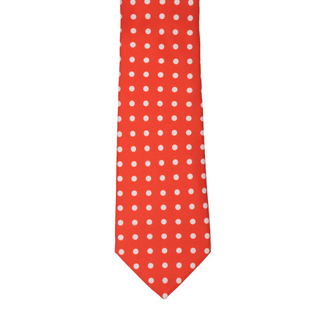 Borelli Napoli // Polk Dot Tie // Red