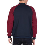 Haiden College Coat // Navy + Bordeaux (L)