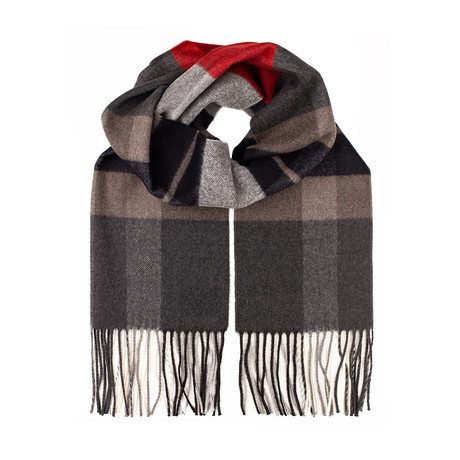Advos Scarf // Red + Gray + Blue