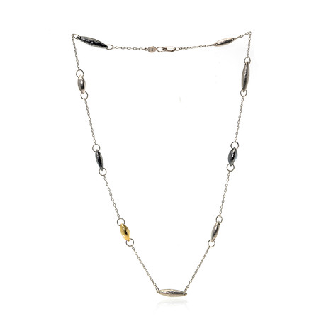 Gurhan Sterling Silver + 24k Yellow Gold Necklace I