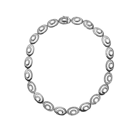 Bucherer 18k White Gold Diamond Necklace